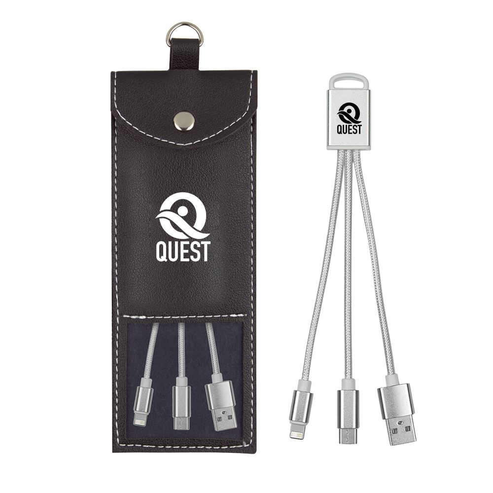 3-in-1 Cable with Storage Pouch