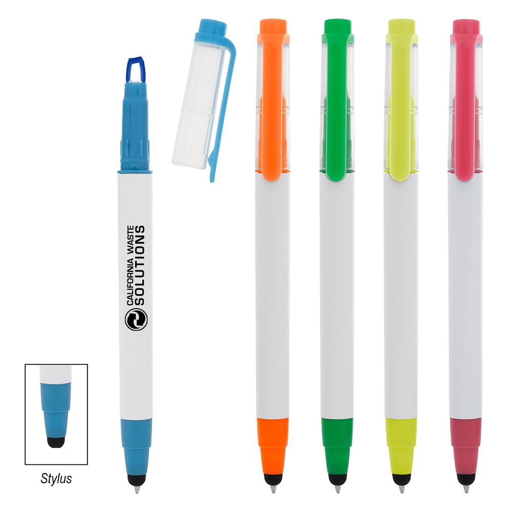 Push Down Highlighter Stylus Pen