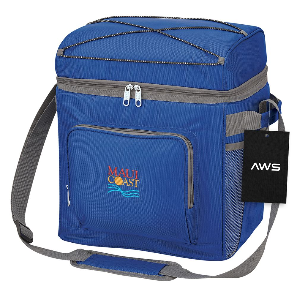Indigo Cooler Bag with Shoulder Straps and Carrying Handles