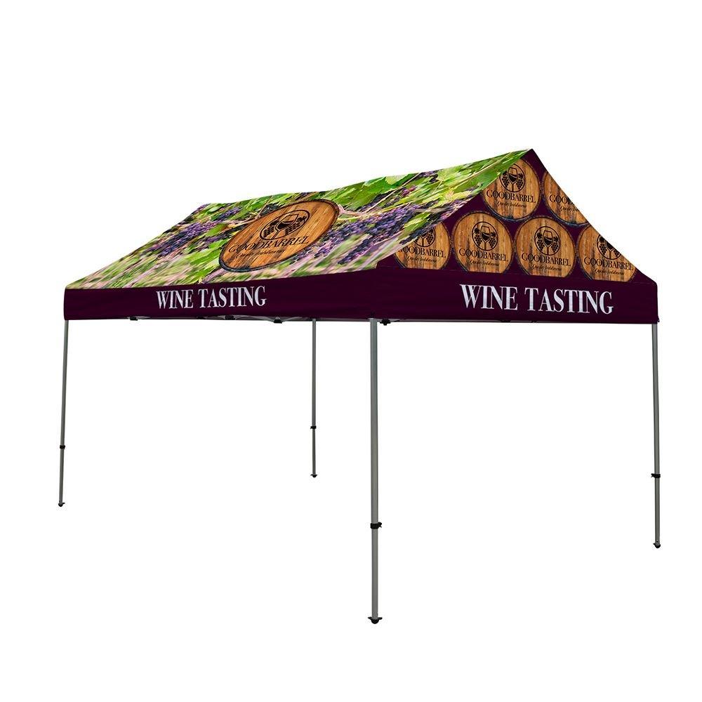 10' x 15' Premium Gable Tent Kit (Dye Sub Full-Color Full-Bleed)