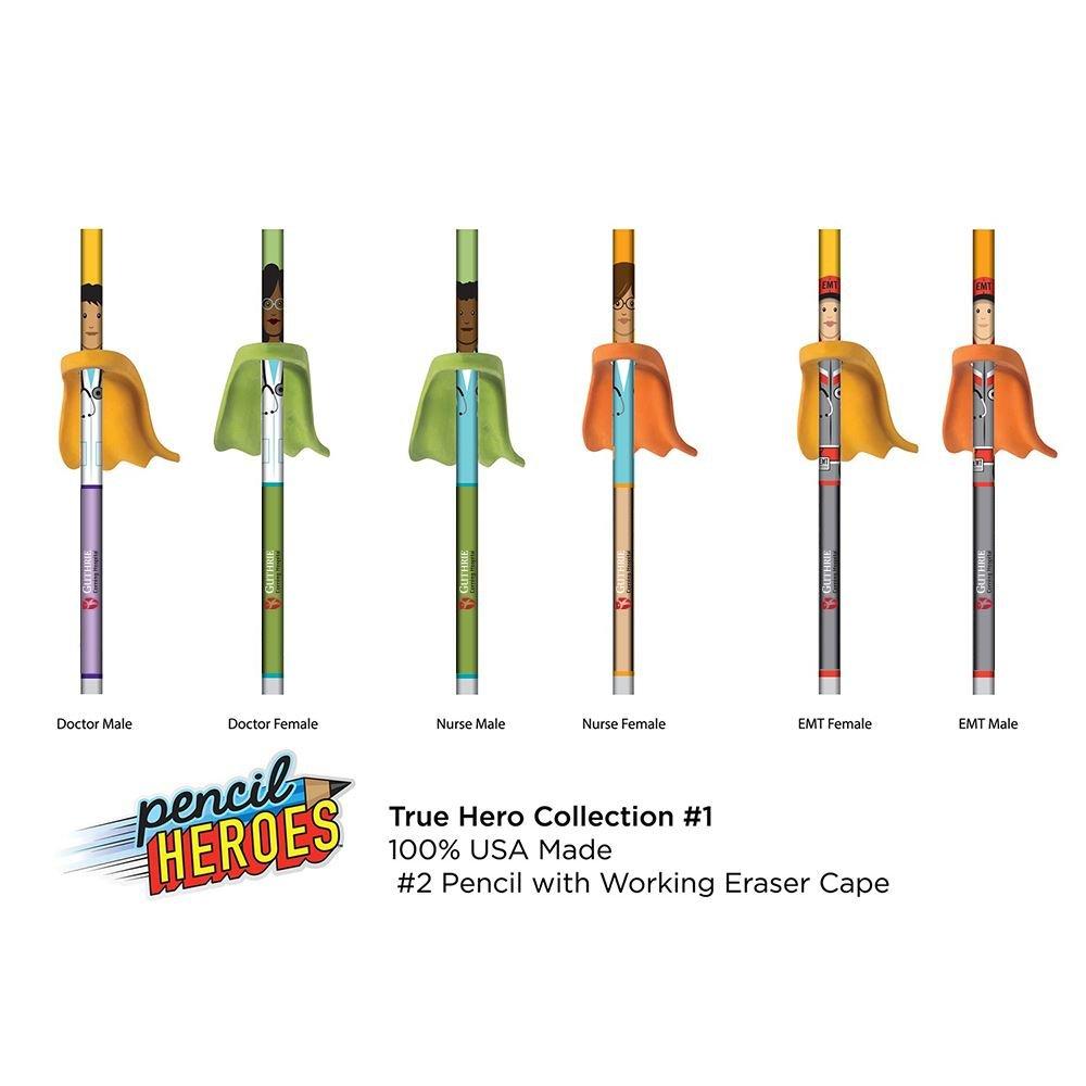 Pencil Hero Healthcare With Cape Eraser
