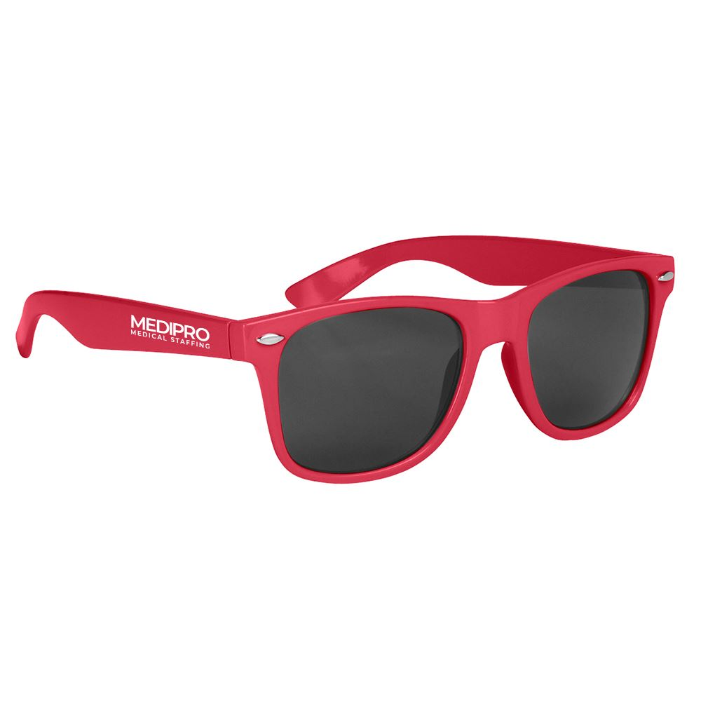 Malibu Sunglasses With Microfiber Cloth And Pouch