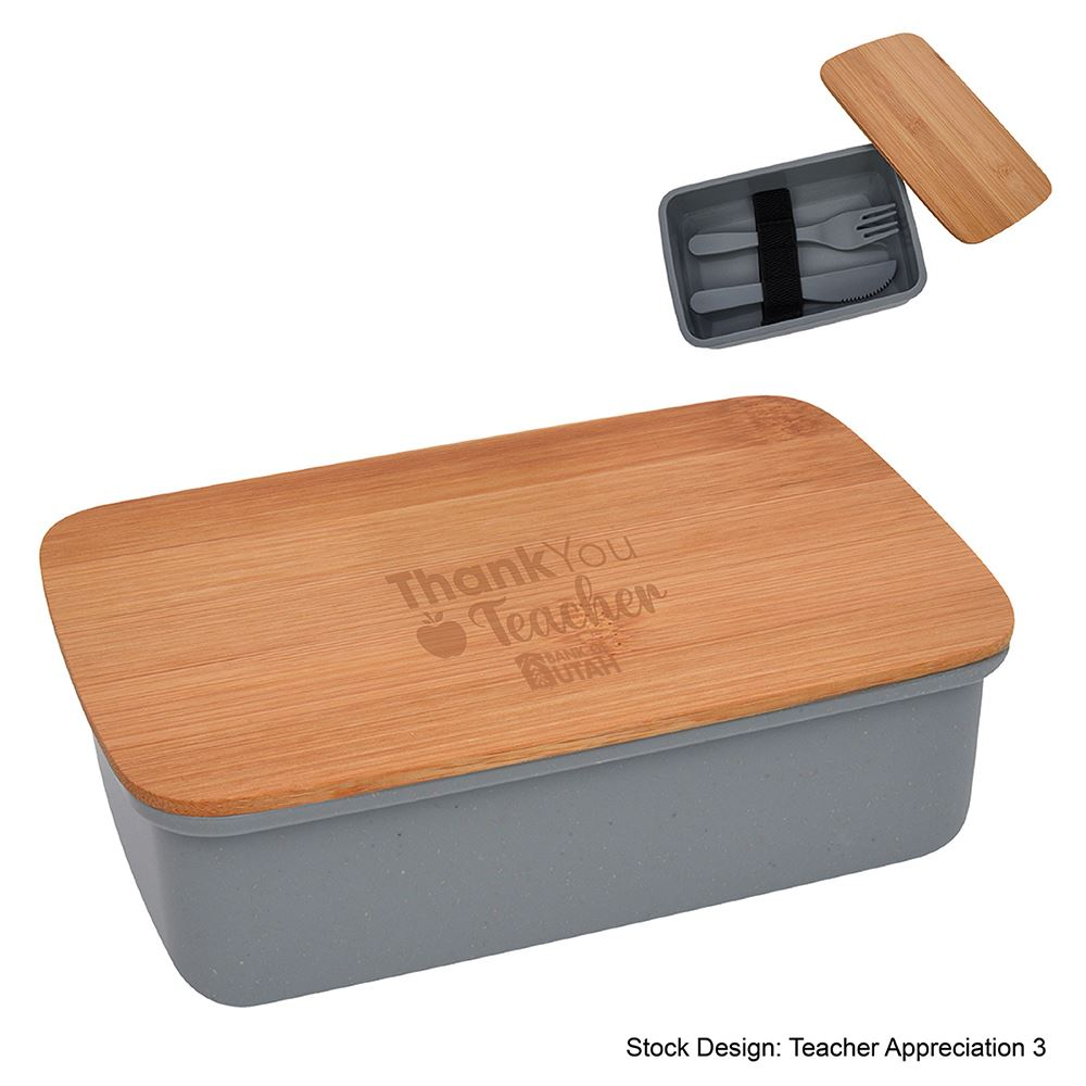 Teachers Appreciation Harvest Lunch Set With Bamboo Lid
