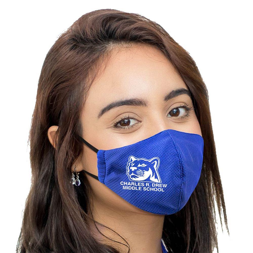 Ionshield ™ 2-Ply Deluxe Cooling Face Mask With Pocket For Filter & Ear Loop Adjustments - Personalization Available