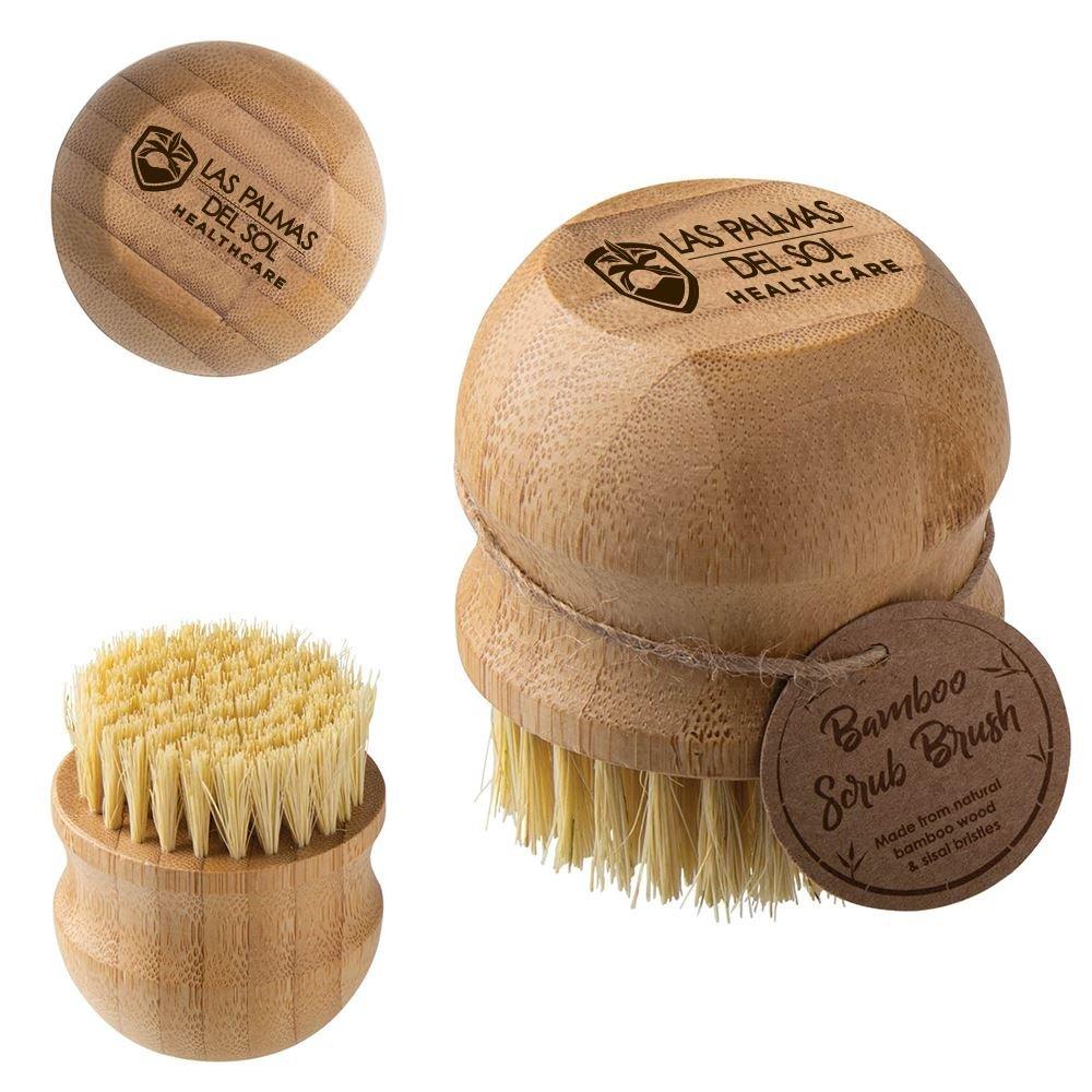 Bamboo Scrub Brush - Personalization Available