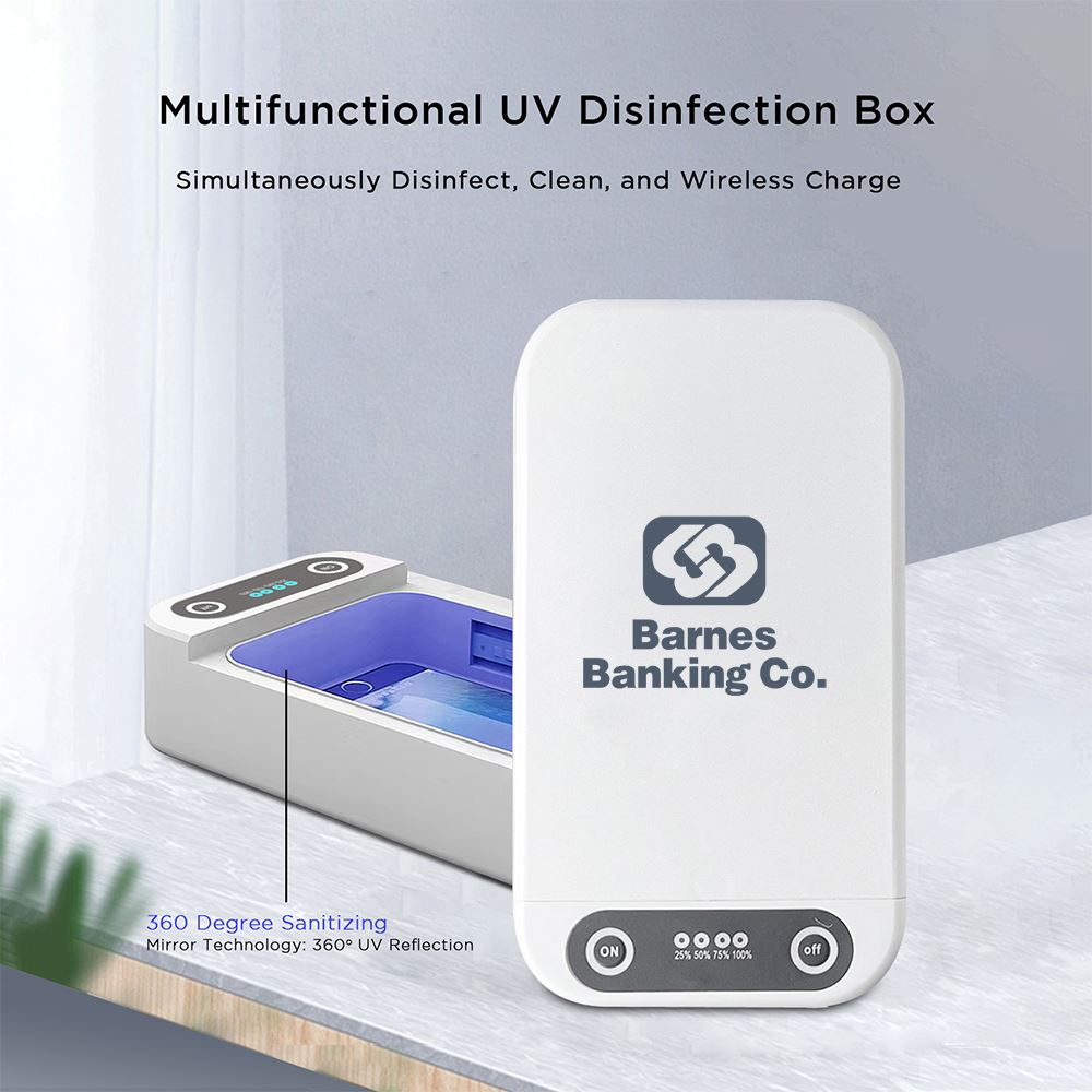 UV Light Sanitizer Disinfection Box with 10W Interior Wireless Charging Function