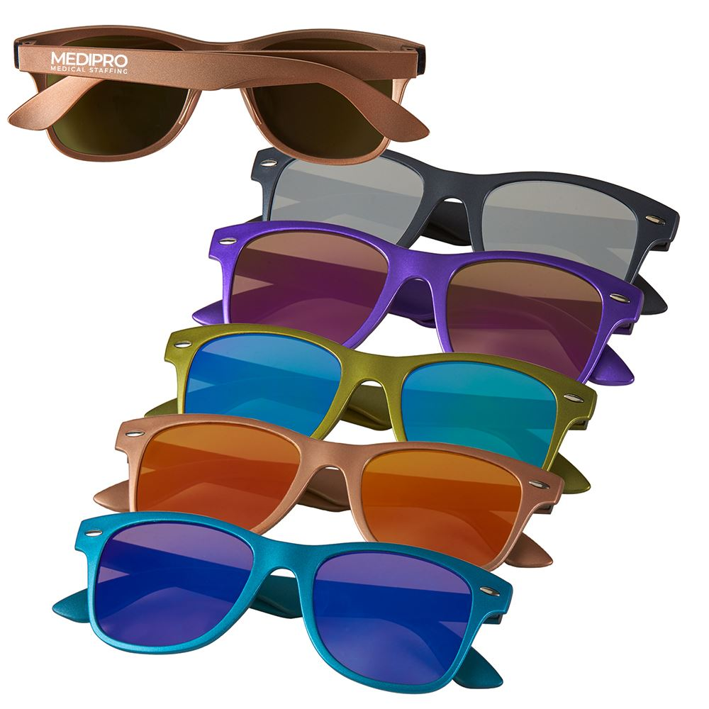 Metallic UV 400 Sunglasses