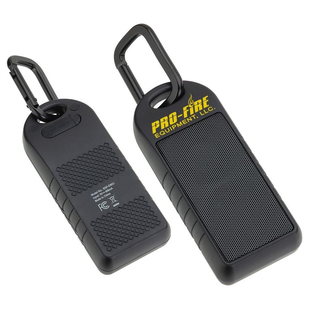 Water Resistant Speaker with Carabiner Clip