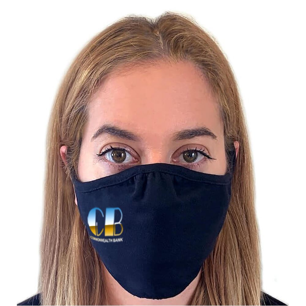 Next Level Eco-Friendly 2-Ply Blended Adult Face Mask - Full-Color Personalization Available
