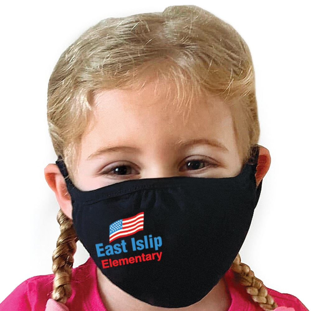 Next Level Eco-Friendly 2-Ply Blended Youth Face Mask - Full-Color Personalization Available