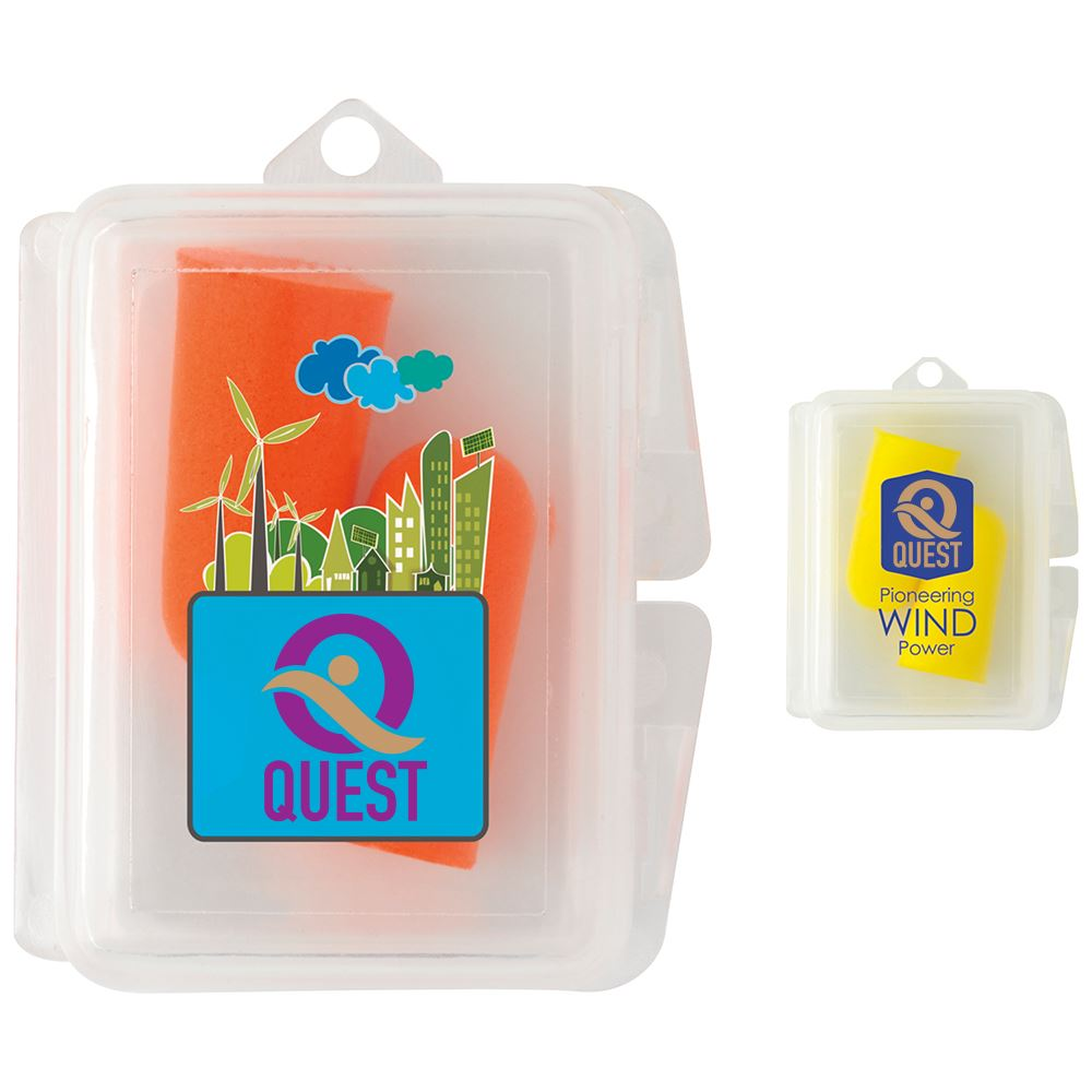 Travel Ear Plugs in Case - Personalization Available