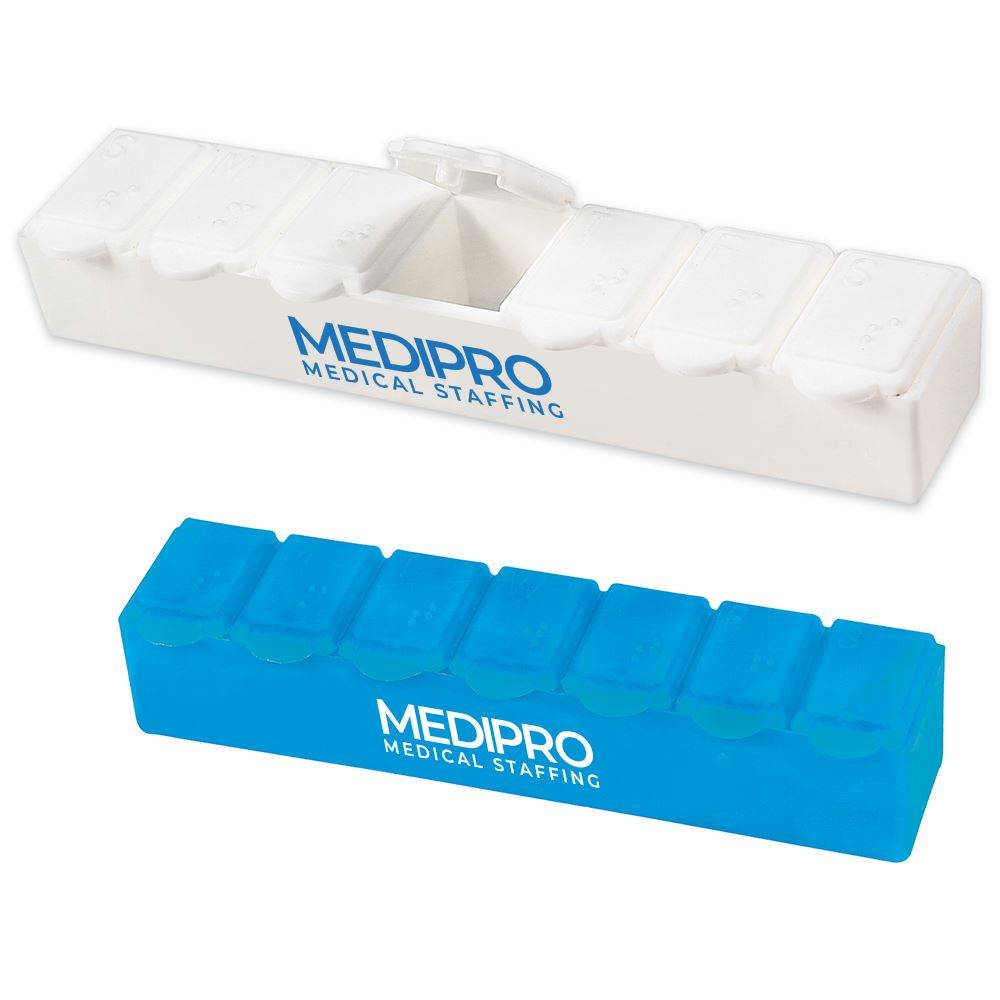 Jumbo 7-Day Strip Pill Box - Personalization Available