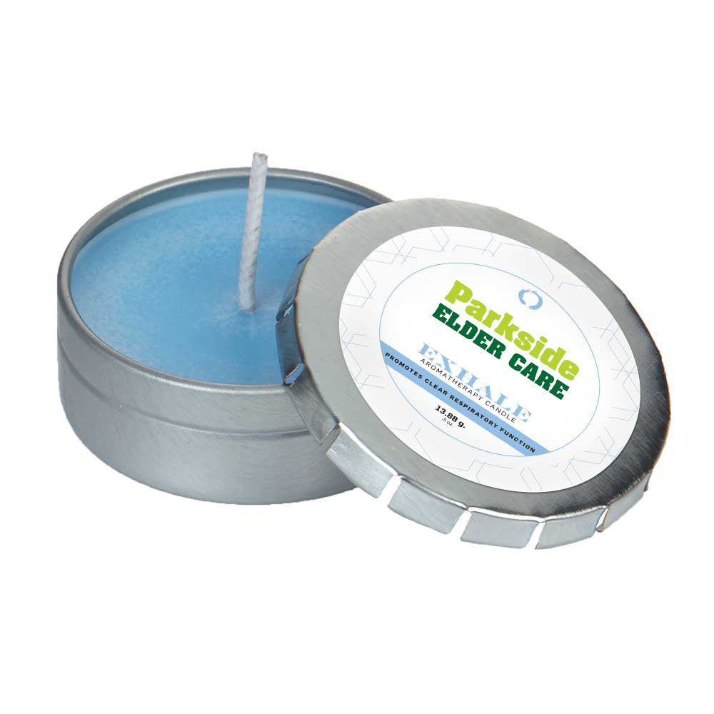 Custom Essential Oil Infused Candle in Small Push Tin - Full Color Personalization Available