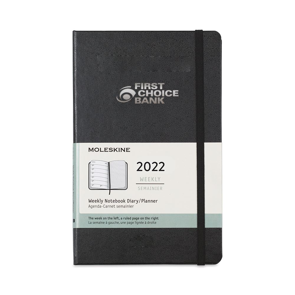 Moleskine Hard Cover Large 12-Month Weekly 2022 Planner - Personalization Available