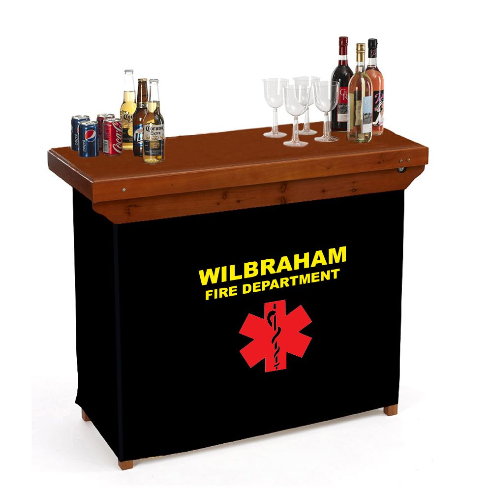 Portable Wood Bar - Personalization Available