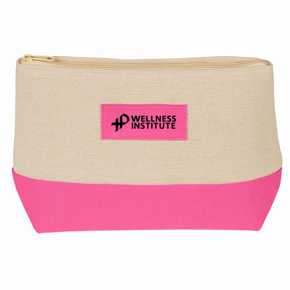 Pink Cosmetic Bag - Personalization Available
