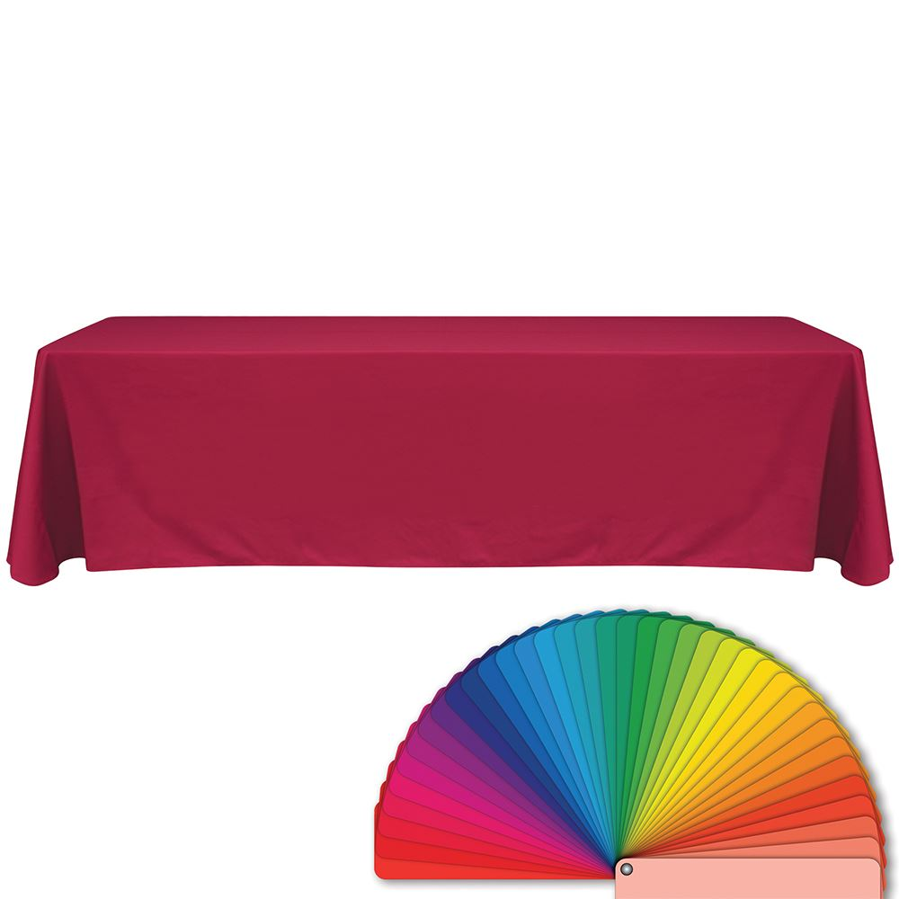 8' Pink Blank Table Throw - Personalization Available