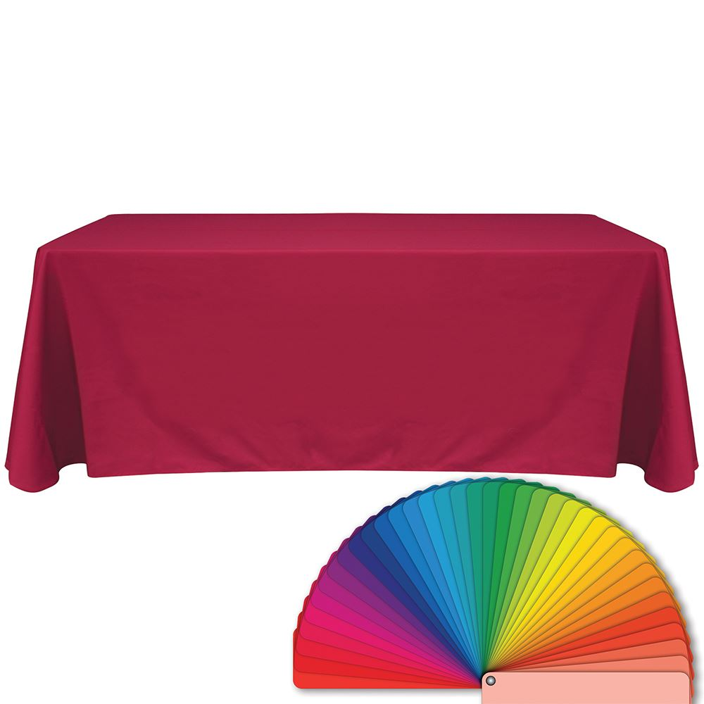 6' Pink Blank Table Throw - Personalization Available