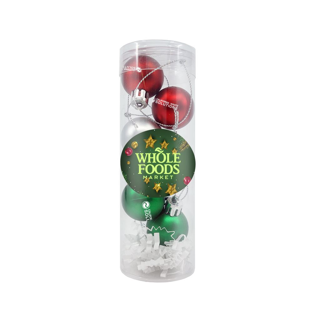 Mini Shatter Proof Christmas Ornament Set - Personalization Available