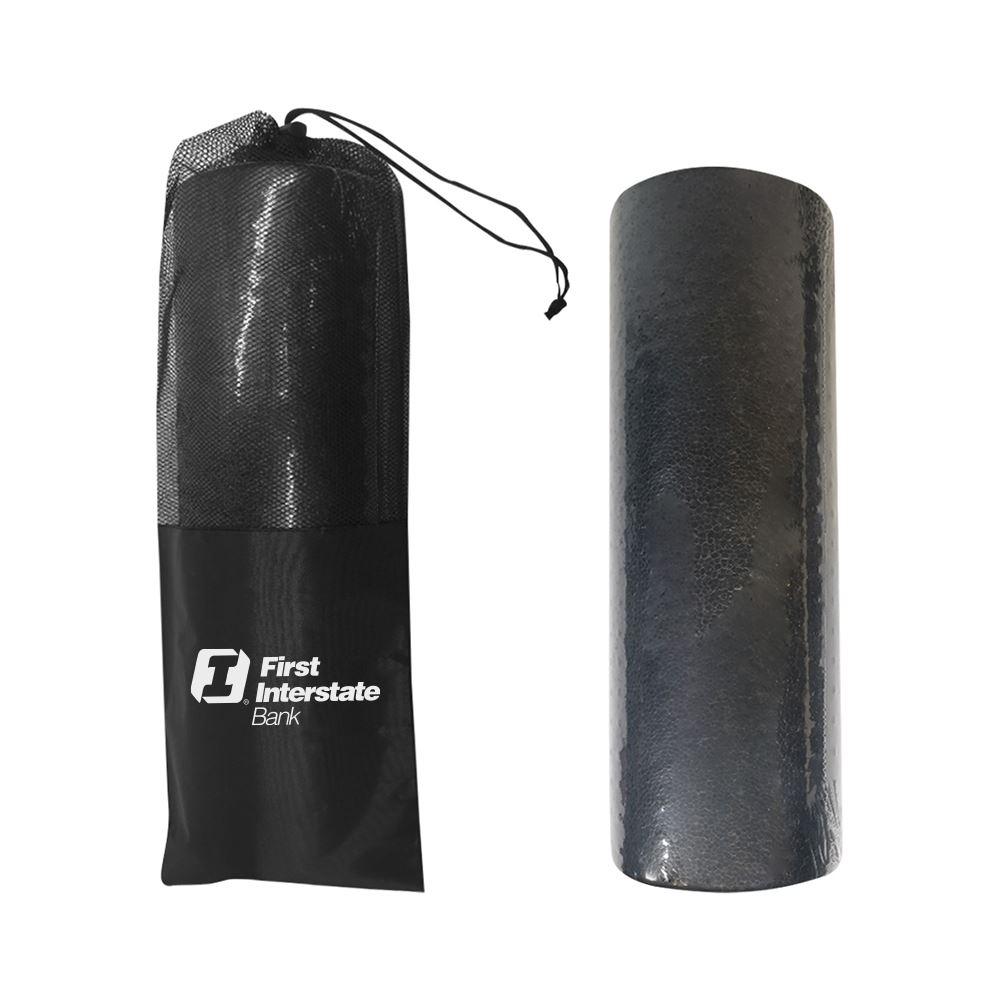 Half Round Fitness Foam Roller and Mesh Pouch - Personalization Available