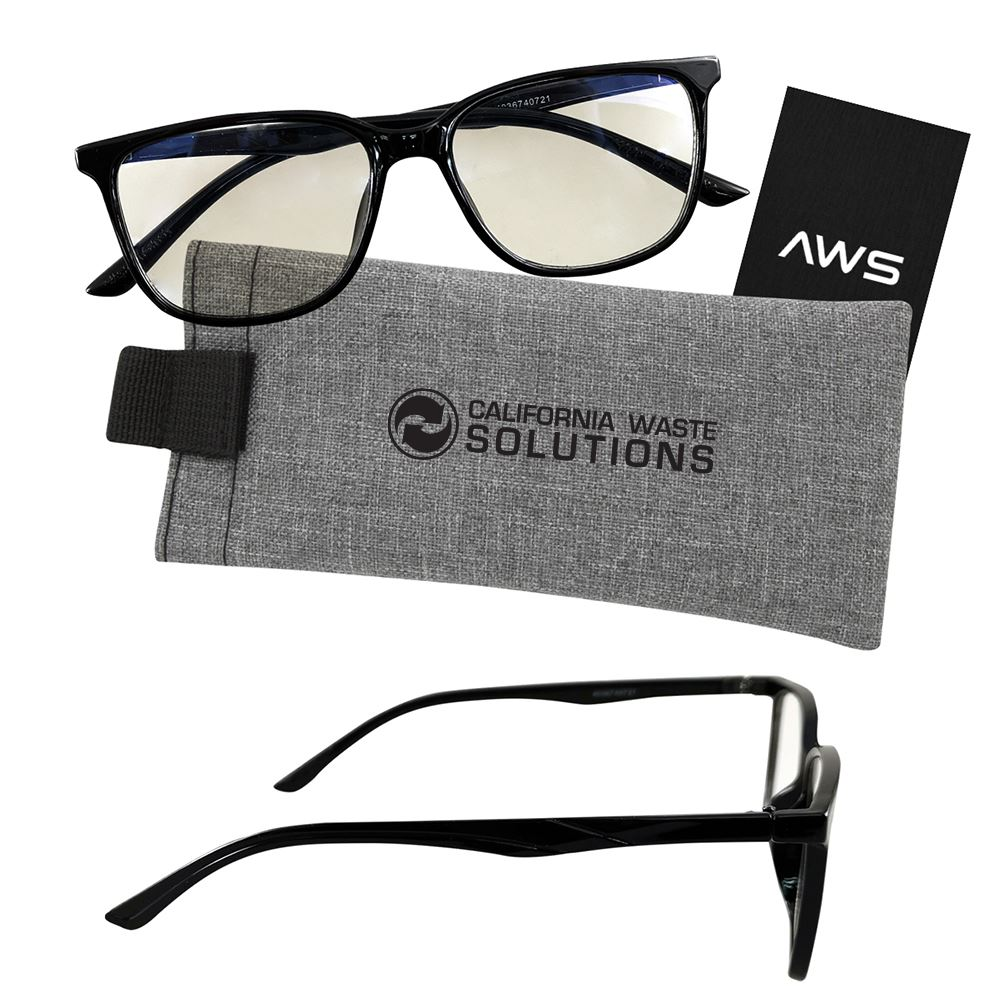 Blue Light Blocking Glasses With Case - Personalization Available