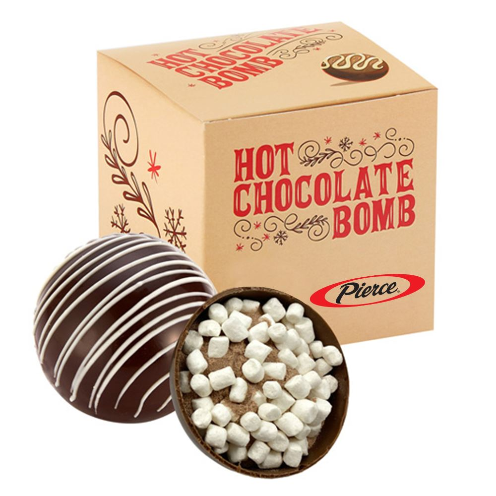 Hot Chocolate Bomb in Gift Box - Full Color Personalization Available
