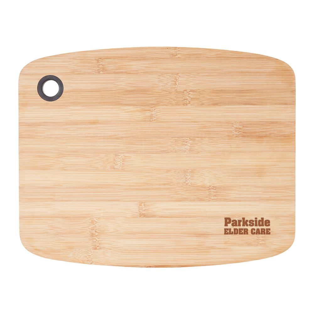 Large Bamboo Cutting Board with Silicone Grip - Personalization Available
