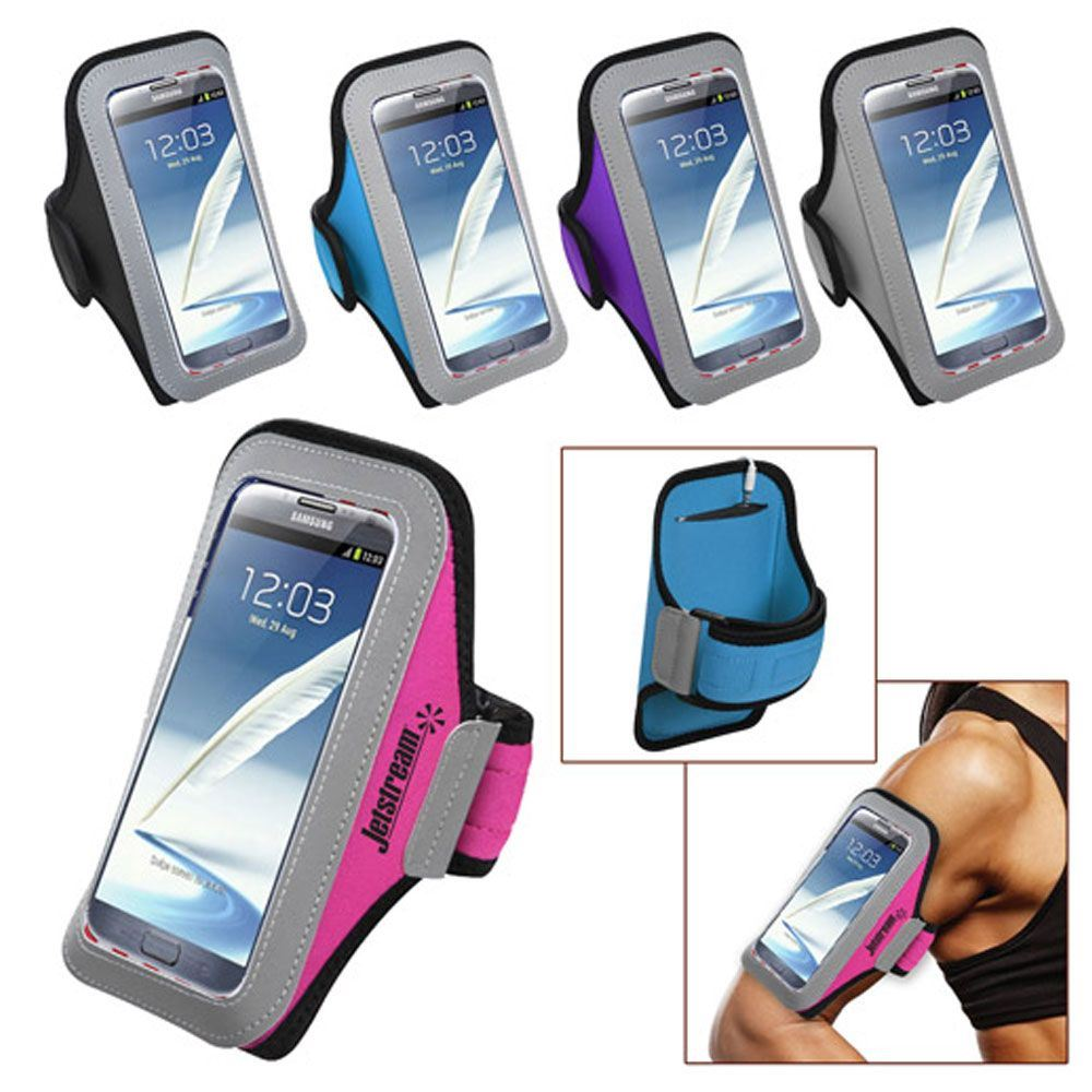 Universal Sport Armband With Large Size Cellphone Pouch - Personalization Available