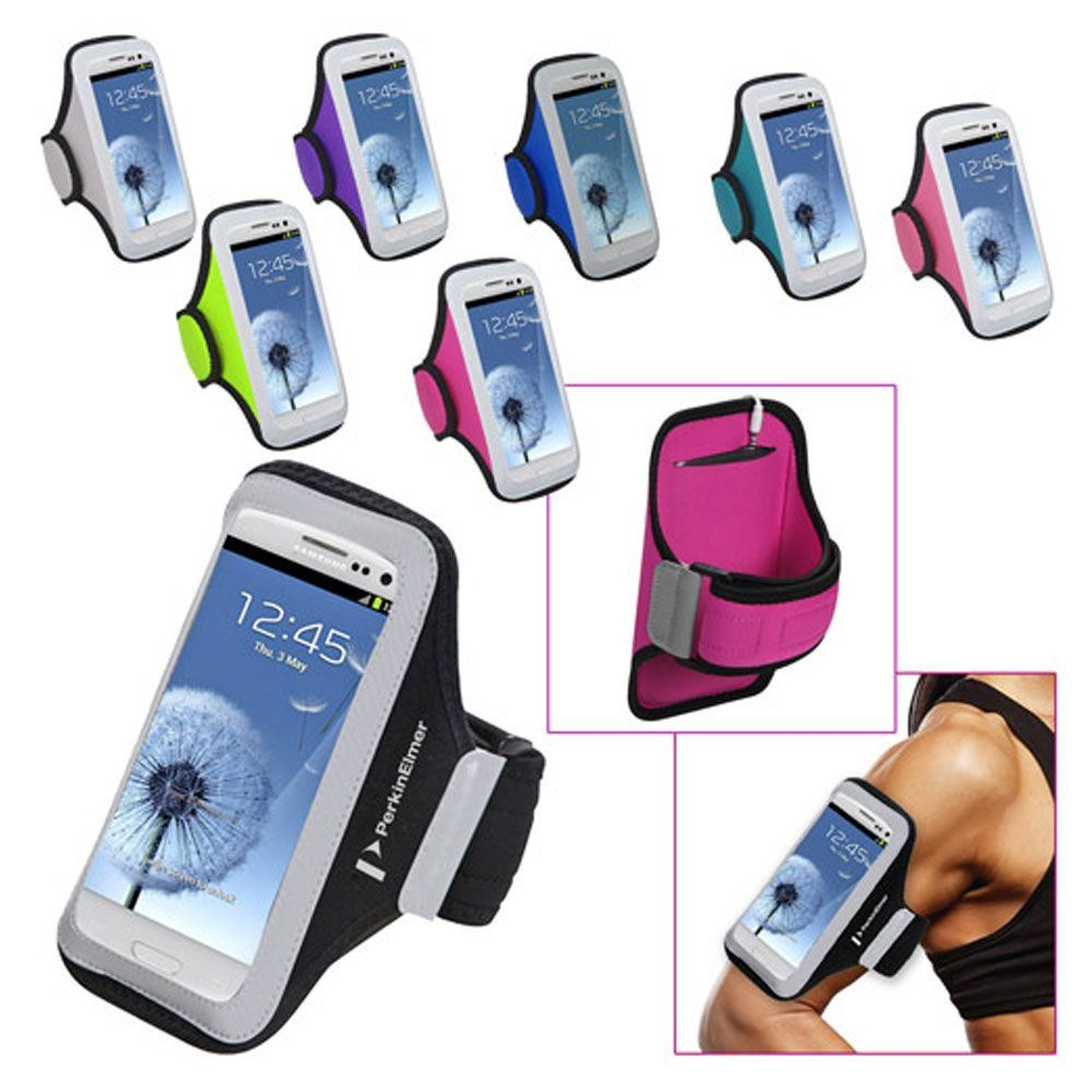 Universal Sport Armband With Medium Sized Cellphone Pouch - Personalization Available