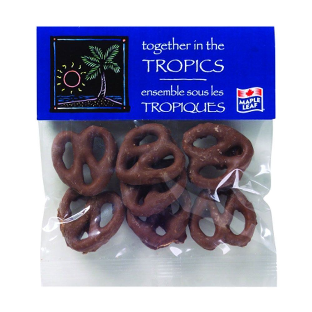 Chocolate Pretzels In 1-oz. Header Bag - Personalization Available