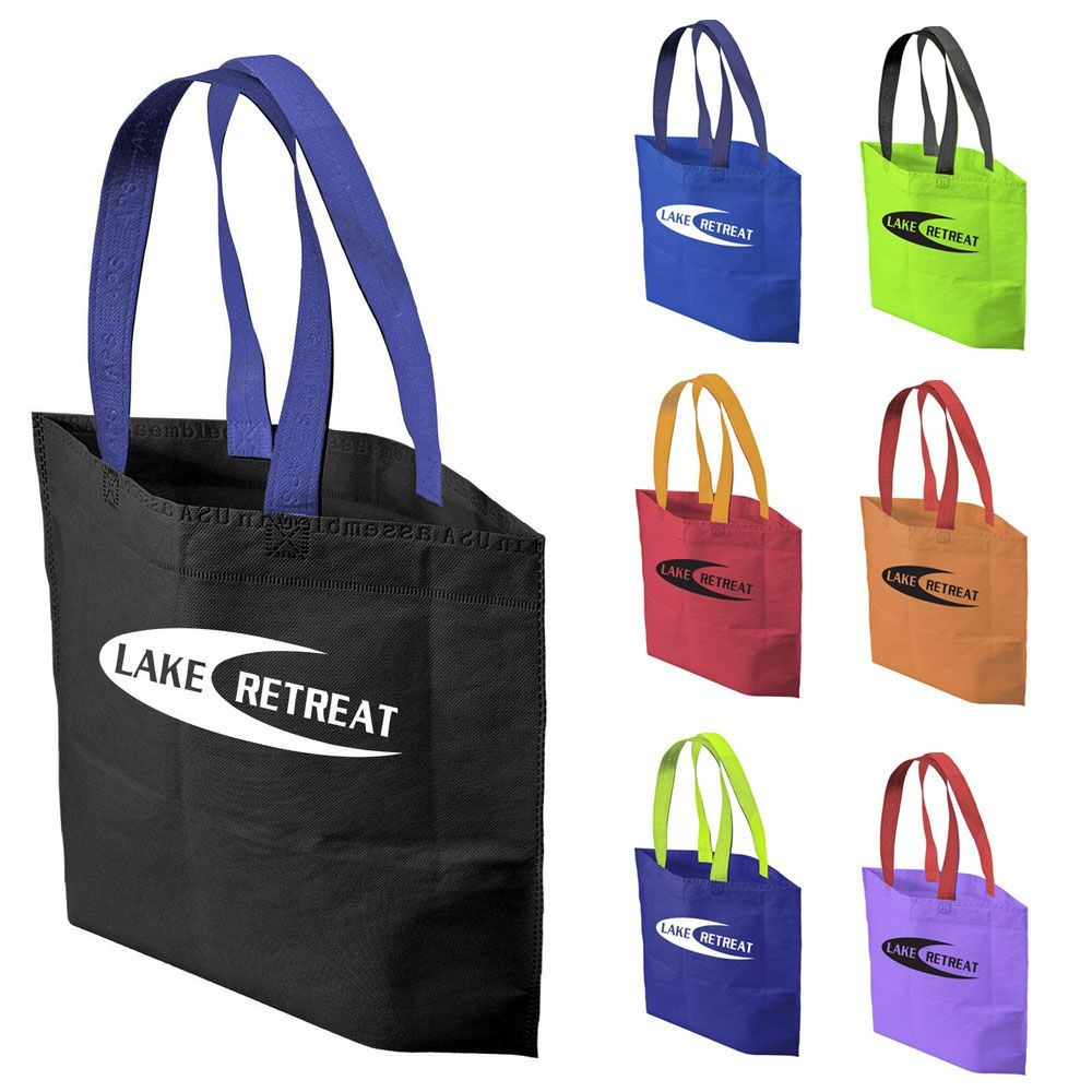 2-Tone Bottom Gusset Bag - Personalization Available