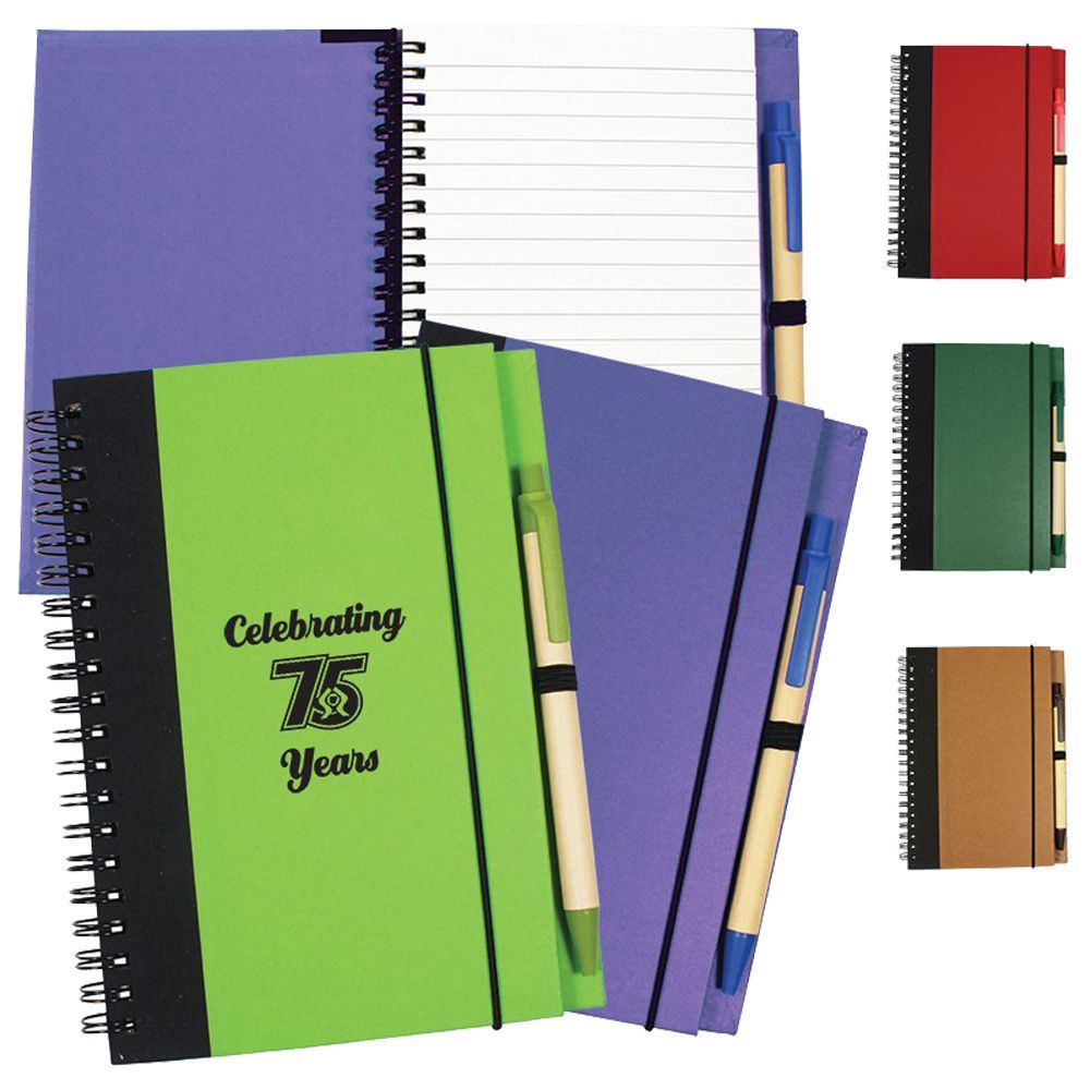 Contrast Paperboard Eco Journal - Personalization Available