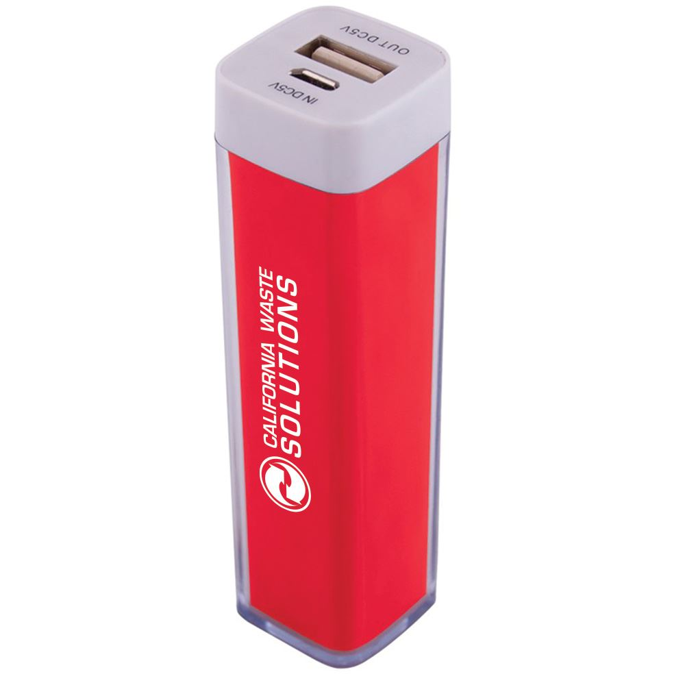 Plastic Power Bank Emergency Battery Charger - Personalization Available