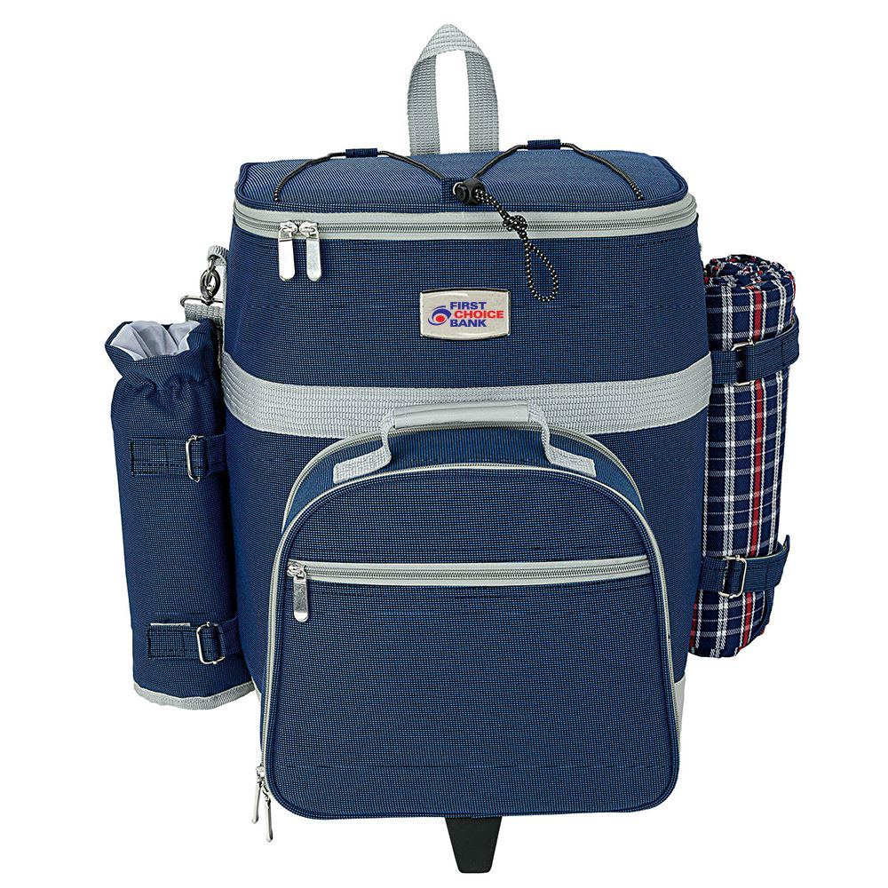4-Person Trolley Picnic Bag - Personalization Available