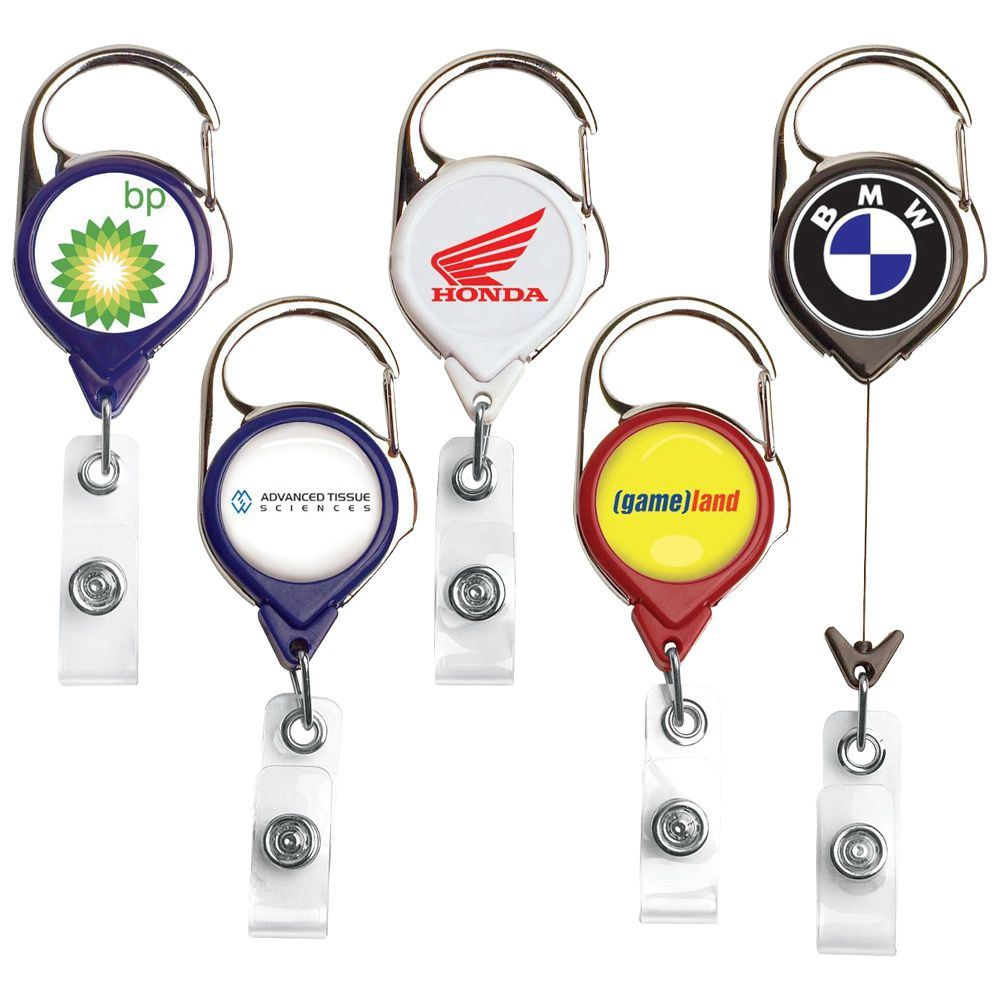 Carabiner Badge Reel - Personalization Available