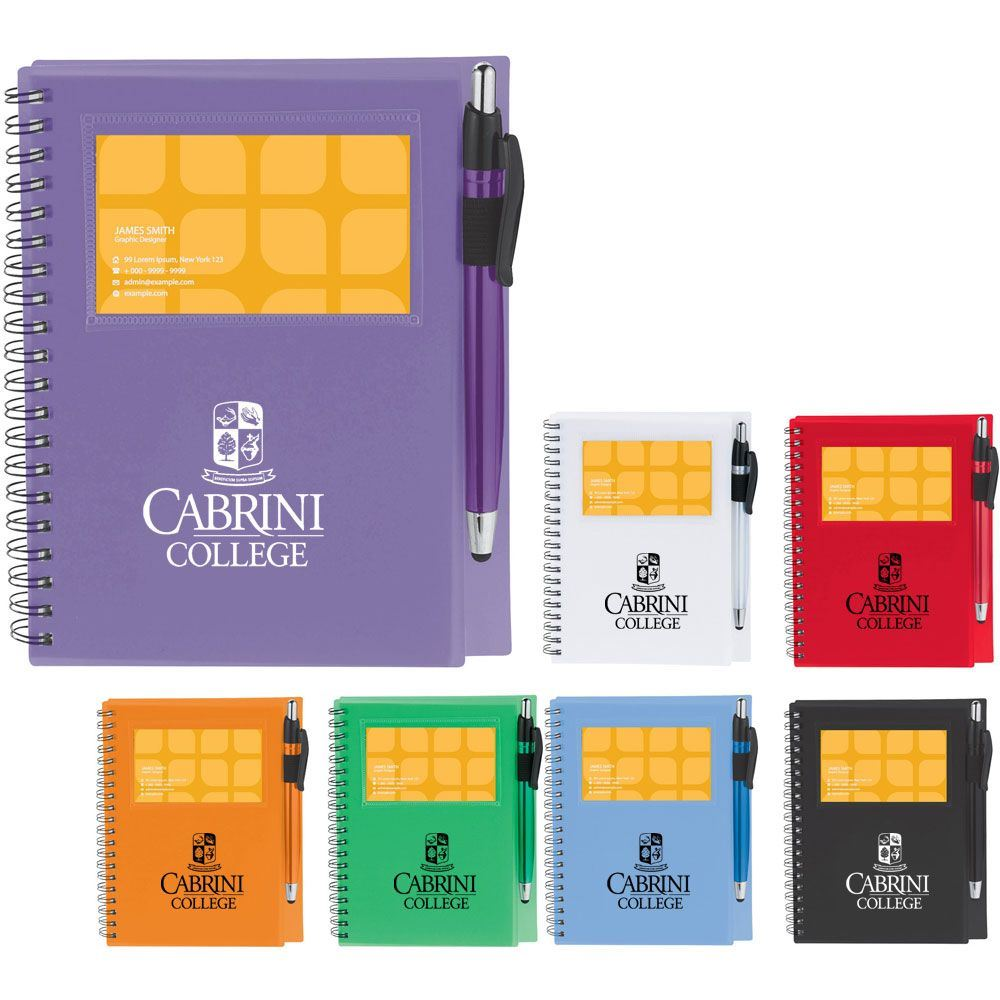 The Star Spiral Notebook With Pen Stylus - Personalization Available