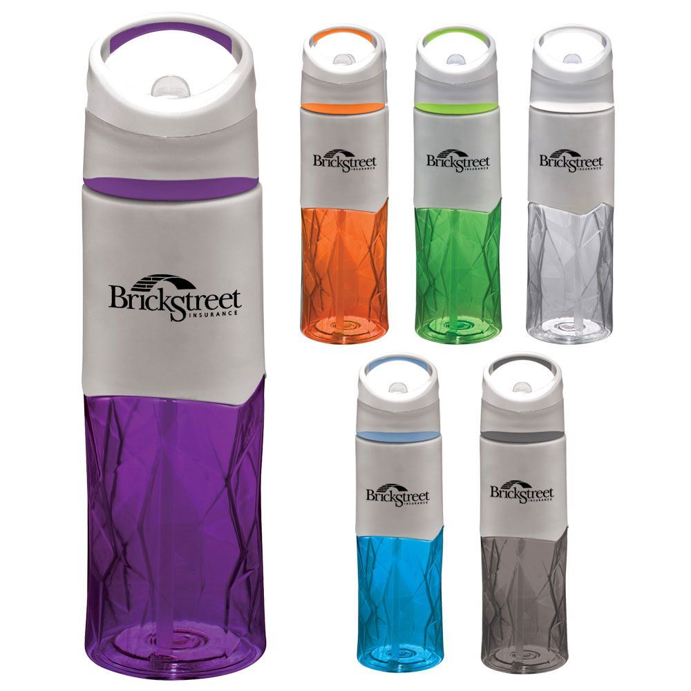Geometric BPA-Free Sport Bottle 28-oz. - Personalization Available
