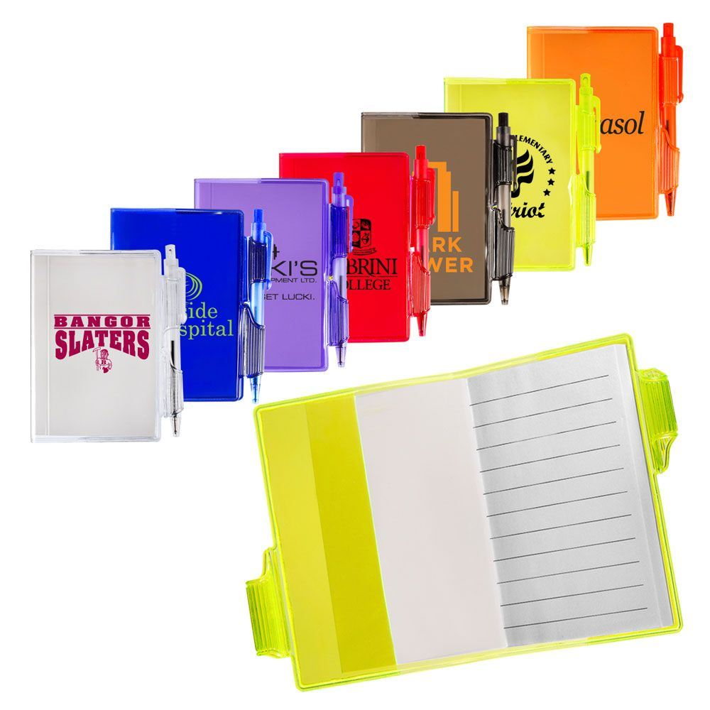 Clear-view Mini Notebook with Pen - Personalization Available