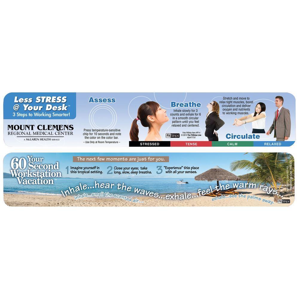 Classic FitStrip - 60 Second Workstation Vacation - Personalization Available