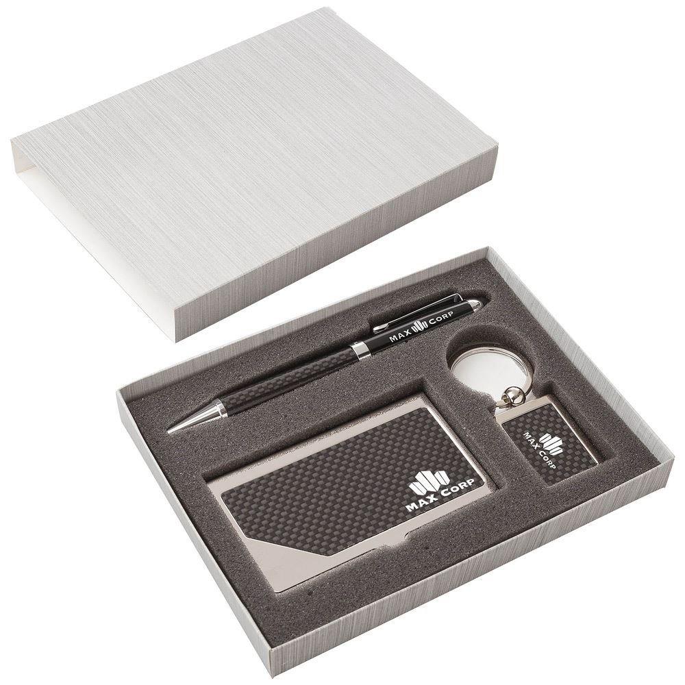 Carbon Fiber Pen, Business Card Case & Keyring Gift Set ...
