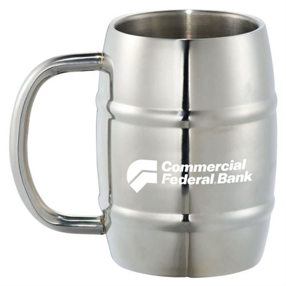 Growl Stainless Barrel Mug 14-oz. - Personalization Available