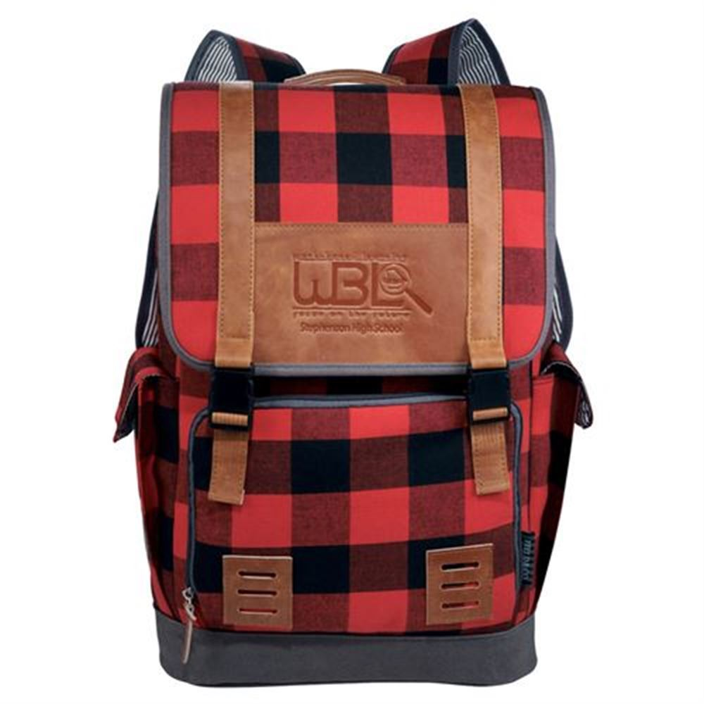 Field & Co.® Campster Buffalo Plaid Computer Backpack - Personalization Available
