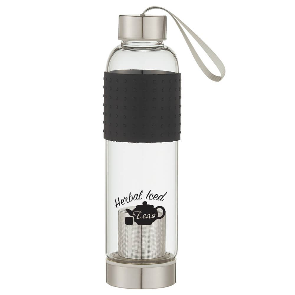 Glass Tea Infuser Sports Bottle 18-oz. - Personalization Available