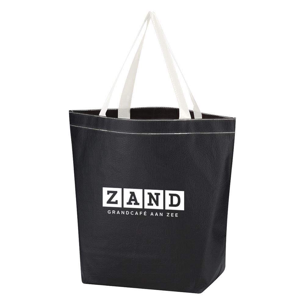 Non-Woven Leather -Look Tote-Personalization Available