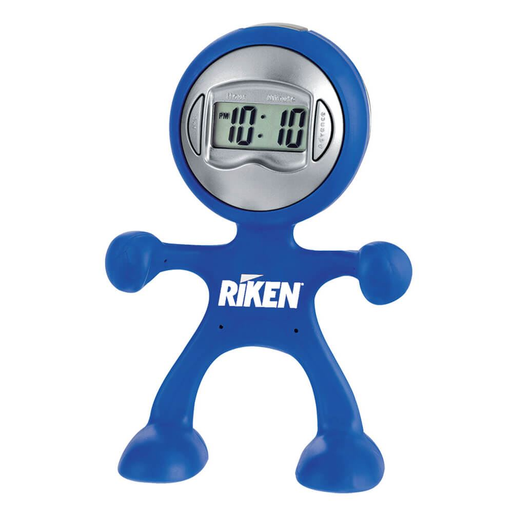 The Flex Man Digital Clock - Personalization Available
