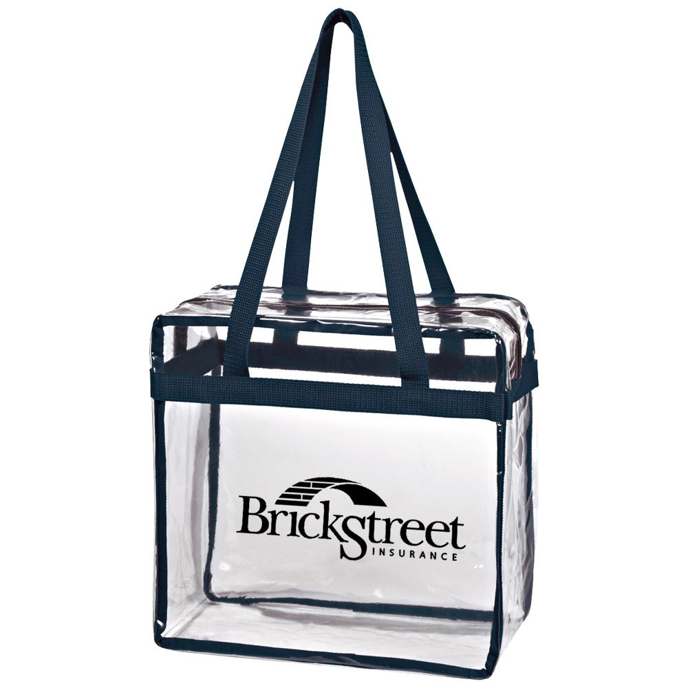 Clear Tote With Zippered Top - Personalization Available