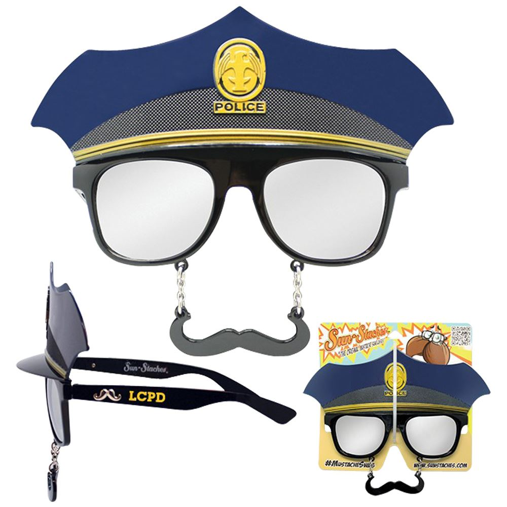 Police Sun-Stache - Personalization Available