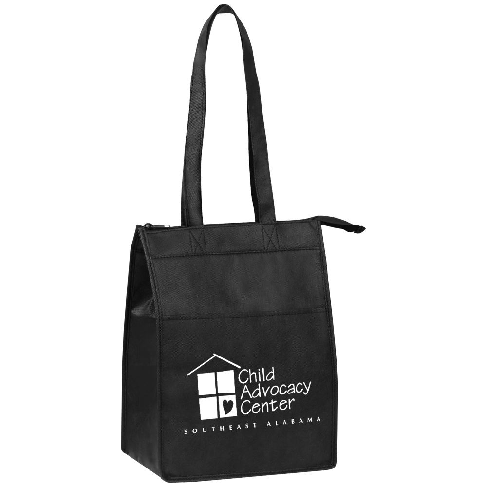 Insulated Zippered Lunch Tote - Personalization Available