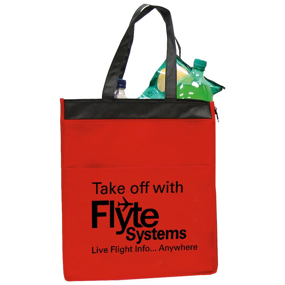 Insulated Zippered Cooler Tote - Personalization Available