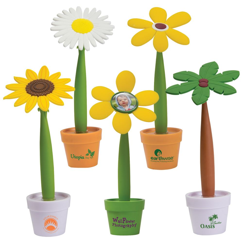 Recycled Flower Pen & Mini Pot - Personalization Available